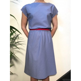 Blue striped Agnès dress