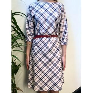 Checked Serenella Dress
