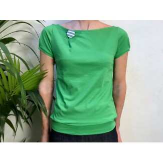 Green Top With Badge
