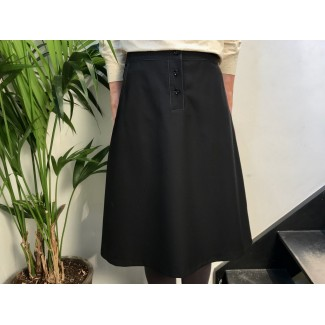 Black Woolen Uzma Skirt
