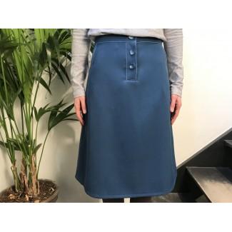 Petrol woolen Uzma skirt