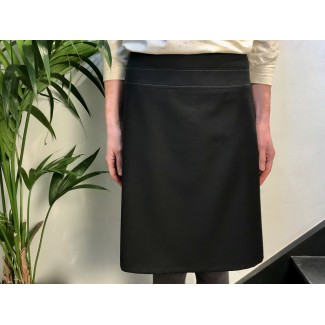 Black Woolen Manon Skirt