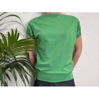 Green Bat Sleeve Top