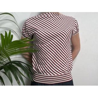 Striped Bat Sleeve Top