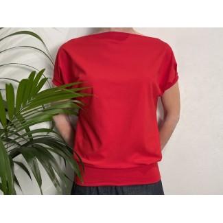 Red Bat Sleeve Top