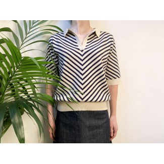 Knitted Polo Shirt by Aymara