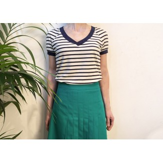 Navy striped top Shirley