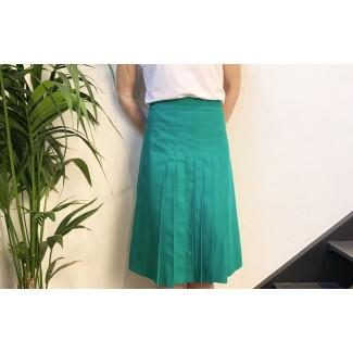 Pleated green skirt Lea