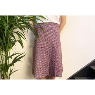 Pleated skirt Lea fish pattern