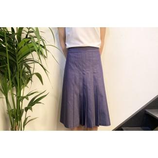Pleated jeans skirt Lea