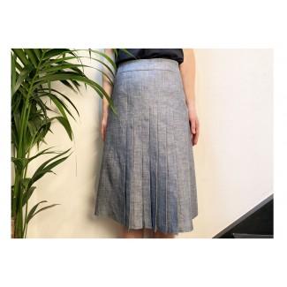 Pleated denim skirt Lea