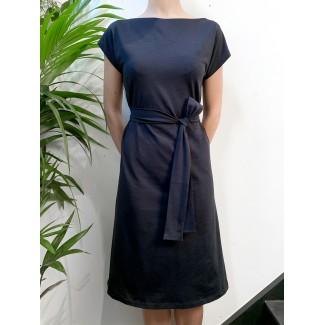 Robe plume bleu marine