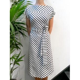 Navy off-white Plume dress