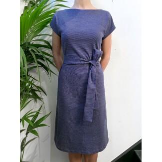 Robe plume bleu