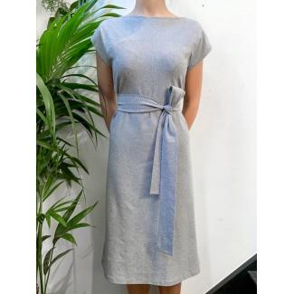 Robe plume bleu marine ligné