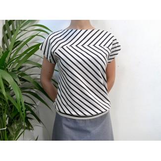 Striped Plume top