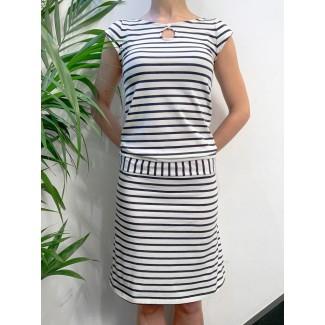 Juliette navy off-white dress
