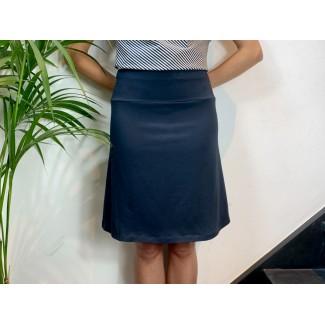 Navy Jersey Skirt