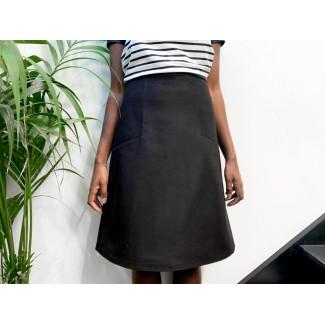 Black Patterned Nasfati Skirt