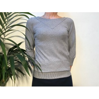 Striped piping Carole Top